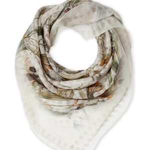 Alexander McQueen Wild Iris Chiffon Shawl scarf
